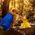 Fotógrafa faz ensaio de 'A Bela e a Fera' com bebê e cachorro em Caruaru, PE