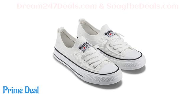 40% off JENN ARDOR Women's Low Top Fashion Sneakers Casual Canvas Shoes Mesh Knit Slip On Sneaker Flats