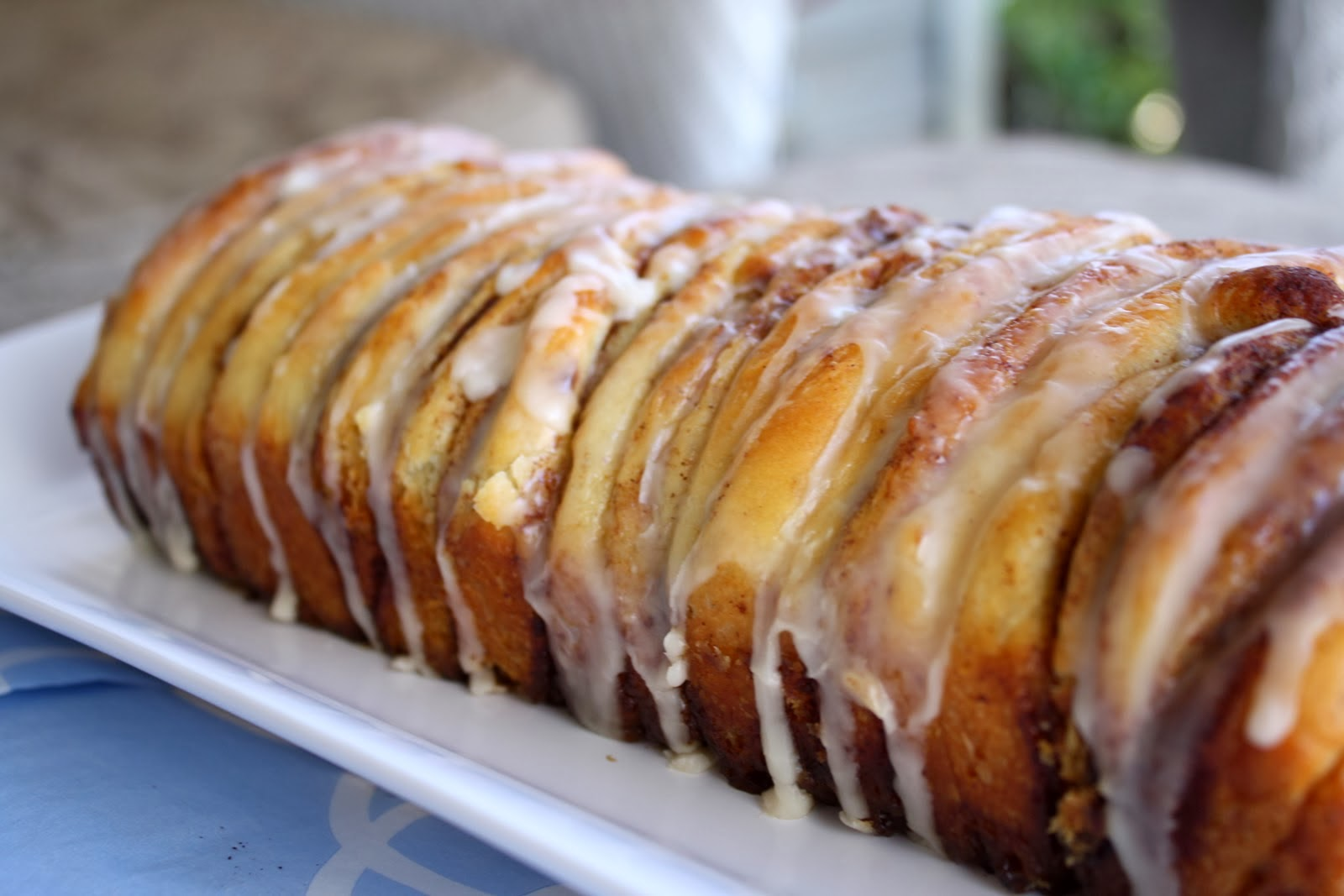 Chocolate Therapy Cinnamon Roll Pull Apart Bread