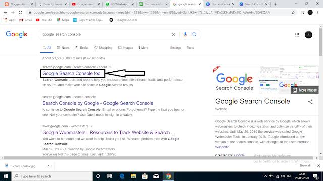 Search Google Search Console On Google