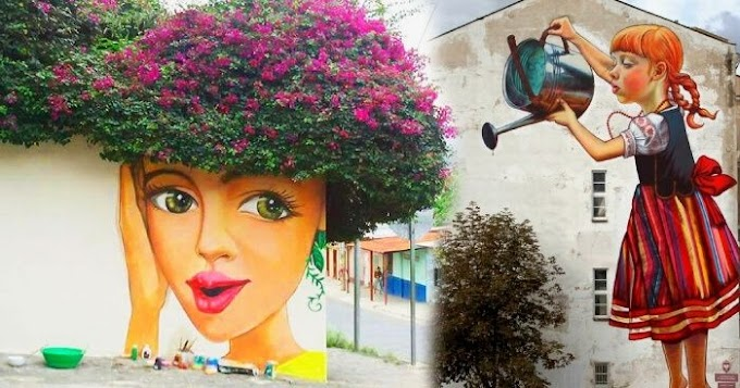 Amazing Street Art Installations That fusing with nature
