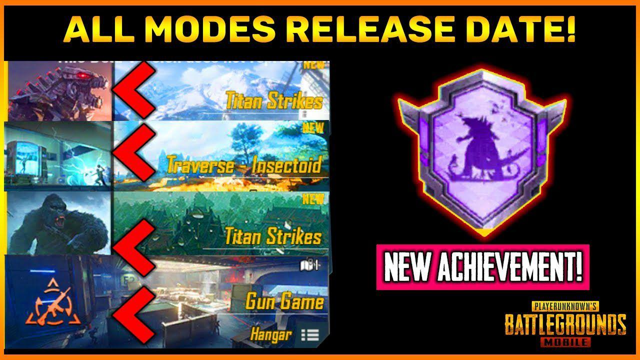 PUBG Mobile 1.4 All Modes Official Release Date || New Godzilla Vs Kong Achievement in PUBG Mobile.