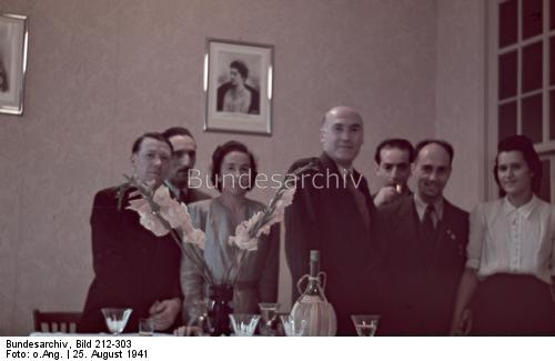 Italian embassy staff in Essen, 25 August 1941 worldwartwo.filminspector.com