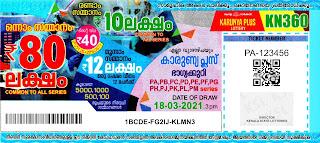 18-03-2021 Karunya-Plus kerala lottery result,kerala lottery result today 18-03-21,Karunya-Plus lottery KN-360,kerala todays lottery result live