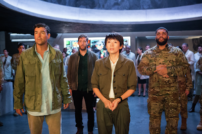 Godzilla: King of the Monsters 2019 movie still Kyle Chandler Ziyi Zhang O'Shea Jackson Jr.