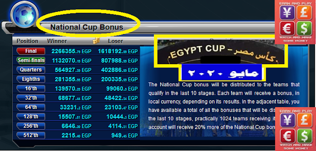 GoalTycoon Egyptian Cup Prizes