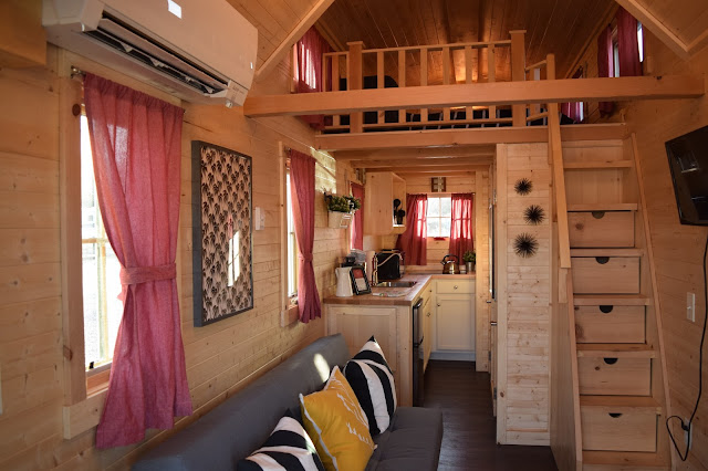 Inside a tiny house - the living area