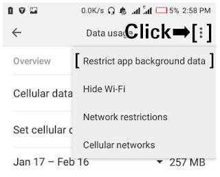 Restrict App Background Data Automatically - TechsProf