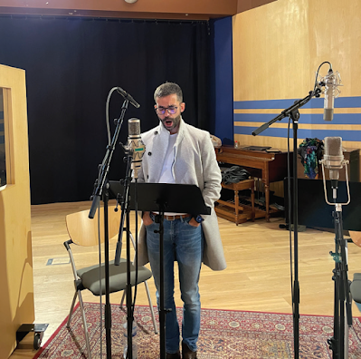 Ricardo Panela at the recording session for Berlin im Licht