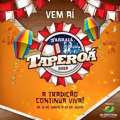 Em  São José da Tapera confira a programação do 3º Arraiá Taperoá 2019