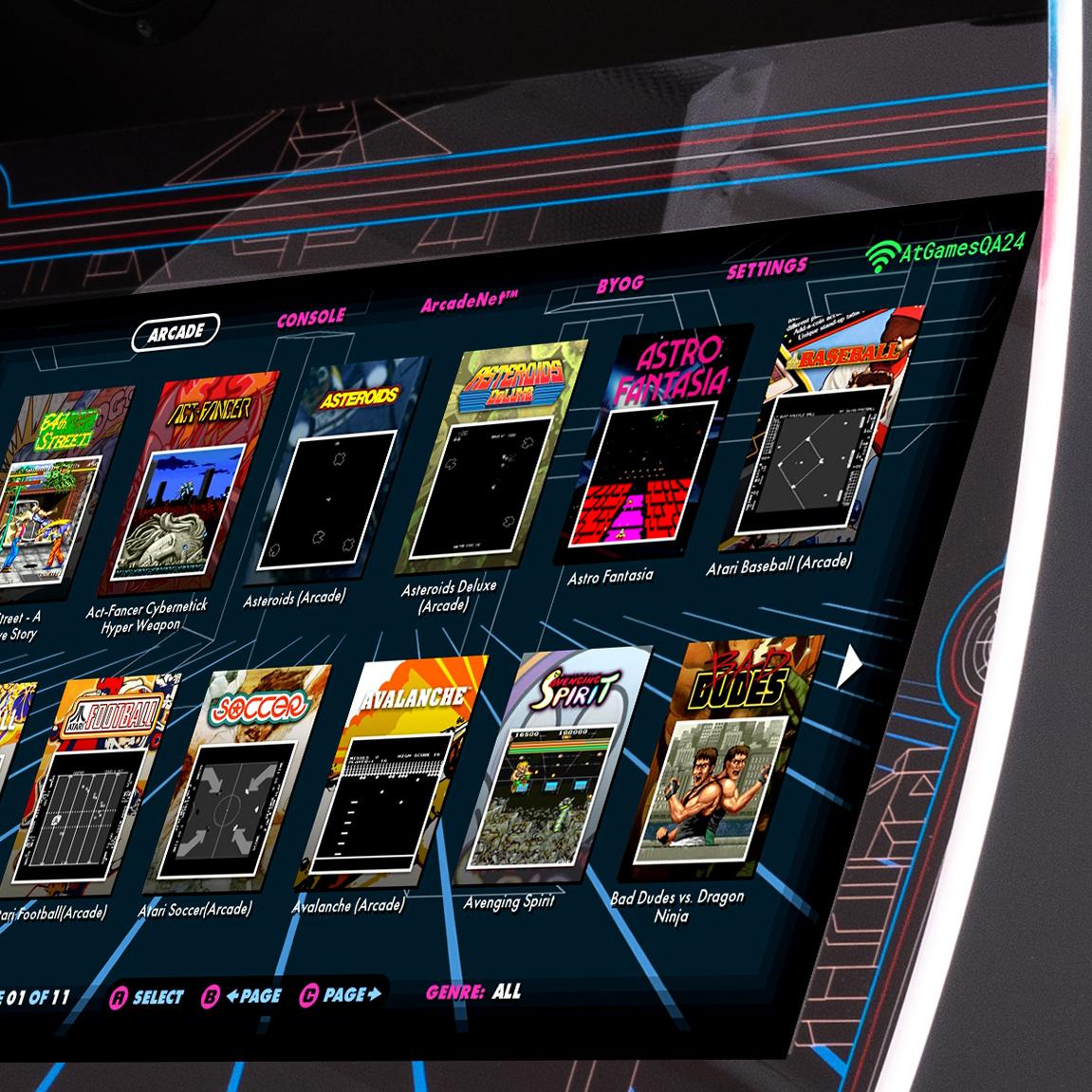 Legends Ultimate Arcade Cabinet Includes 133 Atari Games