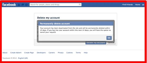 how to delete my facebook account forever