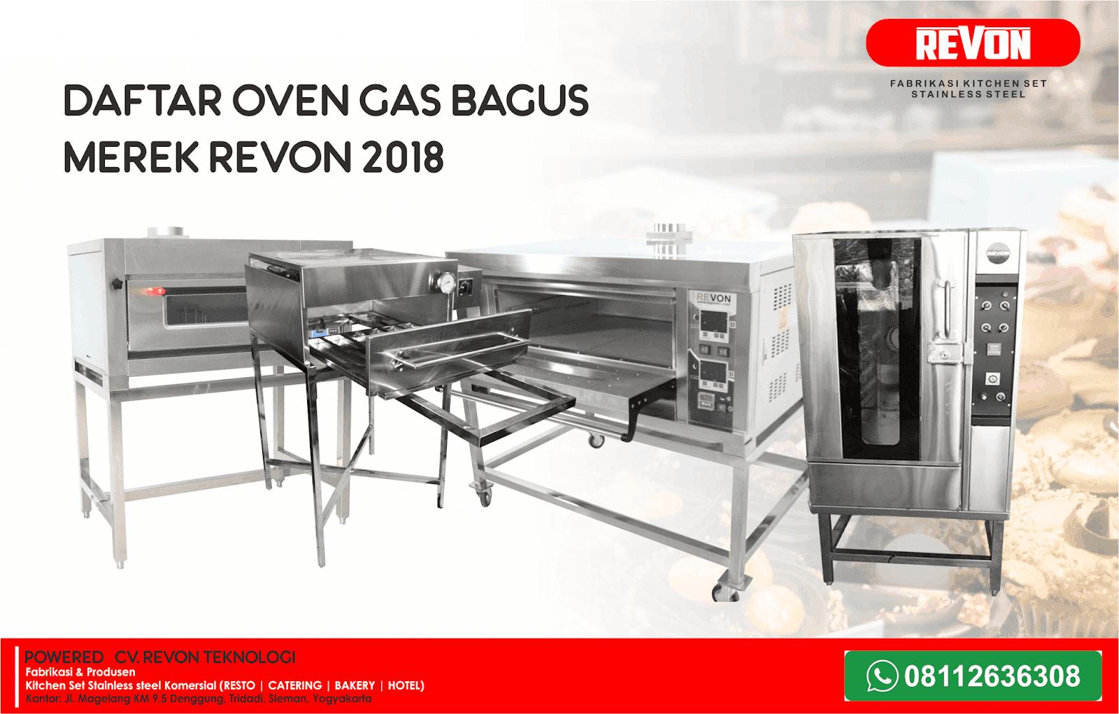 Daftar Oven Gas Bagus Merek Revon Untuk Usaha Roti & Kue