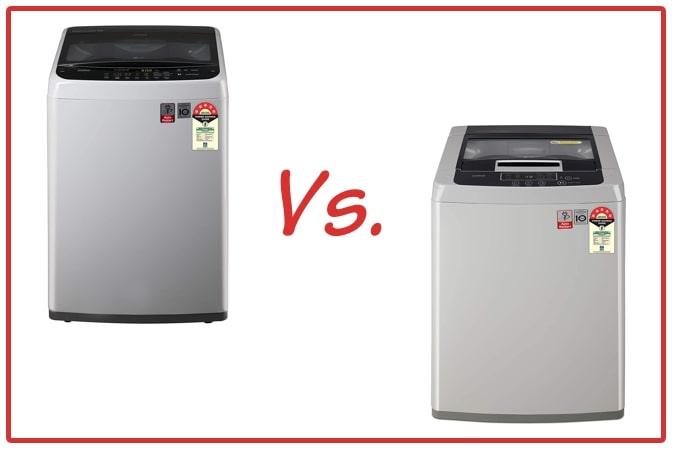 LG T70SPSF2Z and LG T70SKSF1Z Washing Machine Comparison.