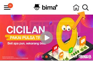 Aplikasi bima+ untuk transfer kuota internet tri