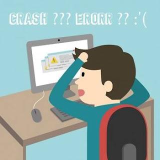 software crash atau rusak