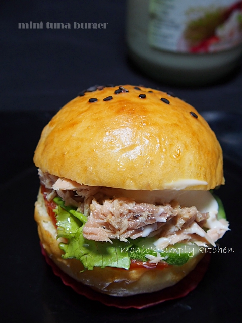 resep mini tuna burger
