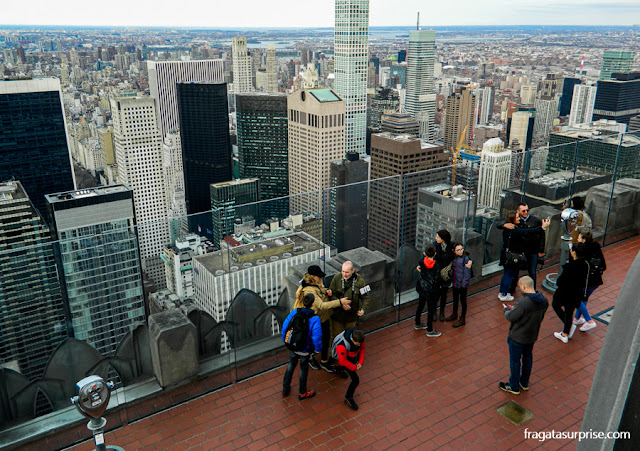 Nova York vista do Top of the Rock, no Rockefeller Center