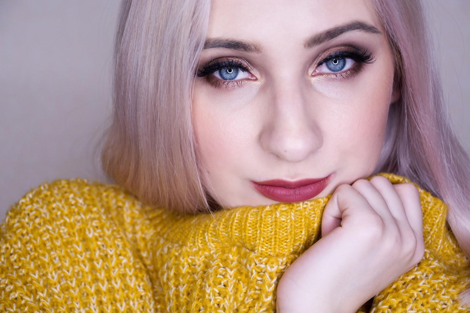 макияж в теплых тонах