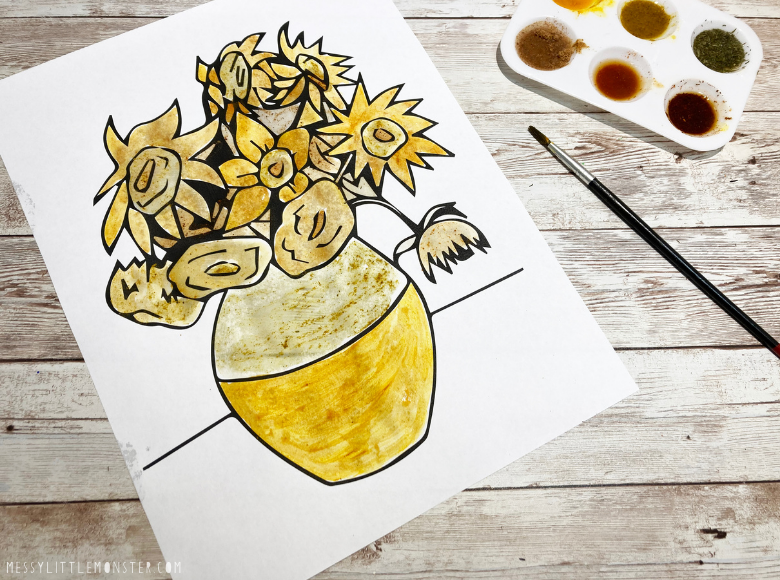 painting with spices