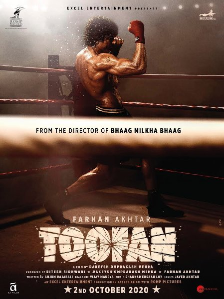 Toofan new upcoming movie first look, Poster of Farhan, Mrunal next movie download first look Poster, release date