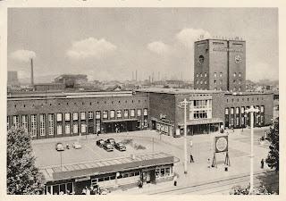 Bahnhof Oberhausen postcard 1959