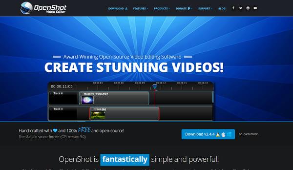 Openshot best free video editing software