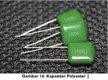 Jenis kapasitor Polyester