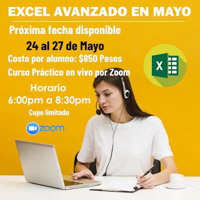 Curso Excel Avanzado en Mérida