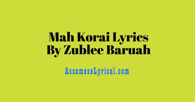 Mah Korai Lyrics