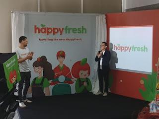 Wajah Baru HappyFresh dengan logo dan maskot Apple Boy