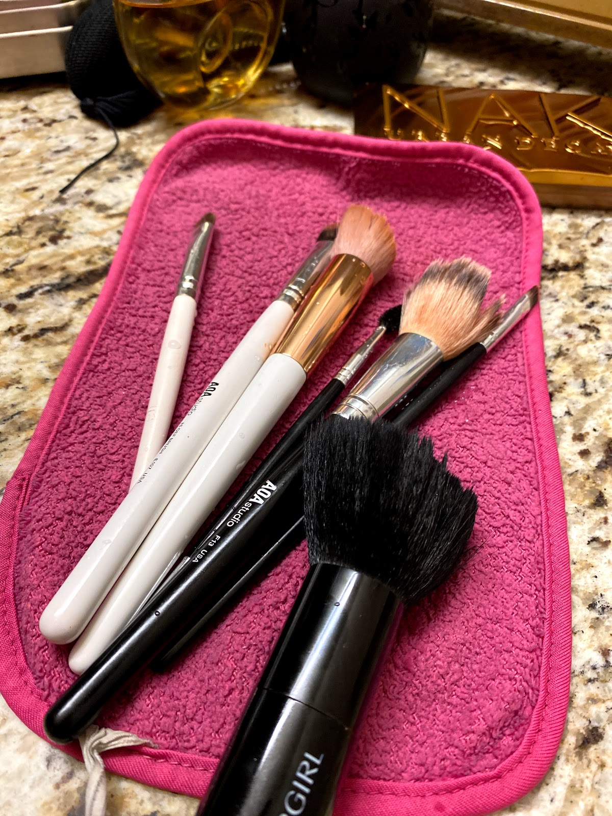Saying Good-Bye Ain't Easy! Feeling Good washing old make-up brushes