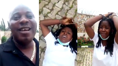 How A Policeman Molested A Lady Who Was With A Criminal He Captured In Ibadan (Video)