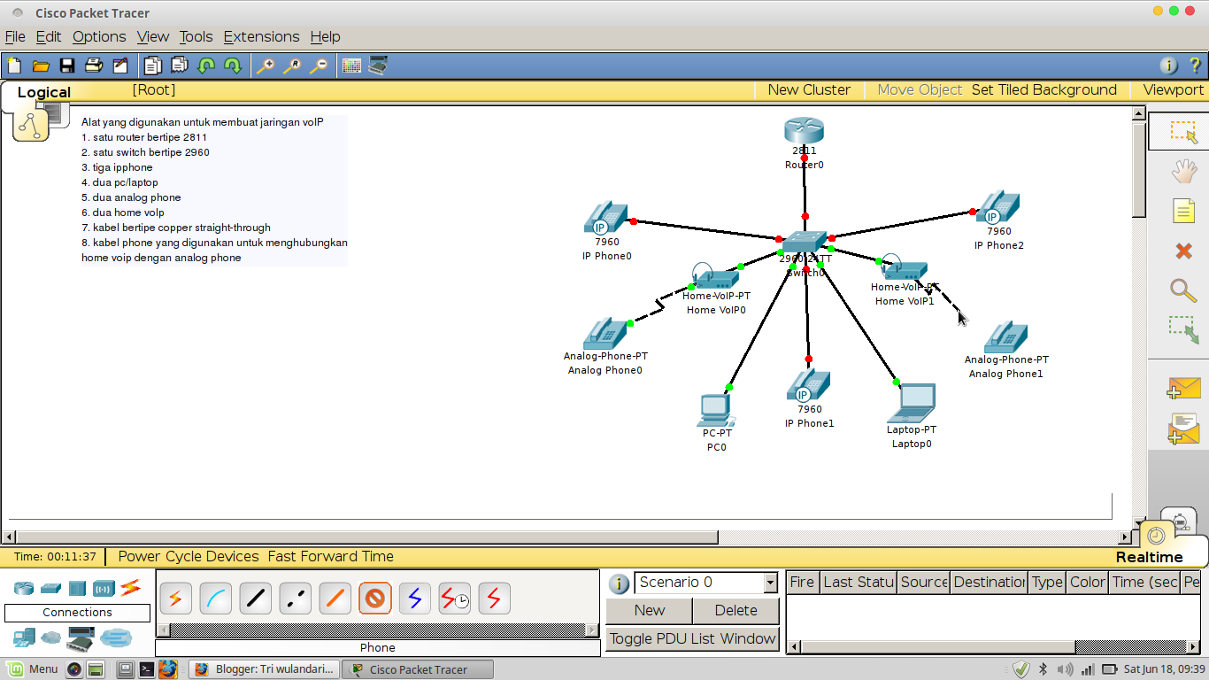 Konfigurasi jaringan voip pada cisco packet tracer tri wulandari setelah kita sambungkan semua hal yang harus kita lakukan adalah dalam hal kabel ip phone gambar diatas menandakan masih berwarna merah yang artinya bahwa ccuart Choice Image