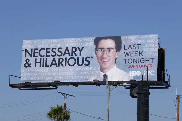 Last Week Tonight John Oliver 2020 Emmy FYC billboard