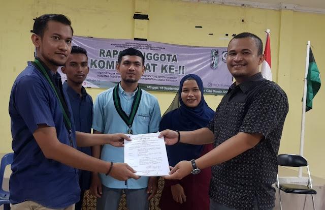 RAK II, Muhibburrahman Pimpin HMI FEBI UIN Ar-Raniry