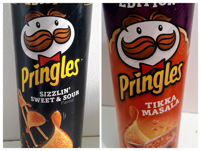 Pringles Limited Edition Tikka Masala and Sizzlin' Sweet and Sour