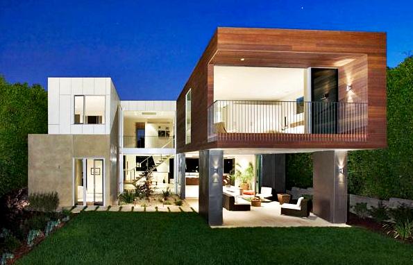 Gambar Desain Eksterior Rumah Minimalis 2 Lantai Bergaya Tropis
