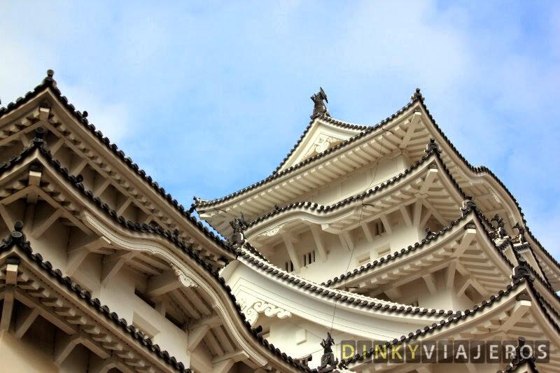 Detalle de los tejados del Castillo de Himeji