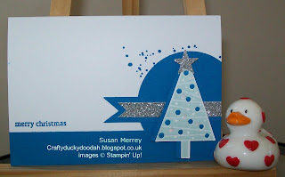 Stampin' Up! Made by Susan Simpson (Merrey) Independent Stampin' Up! Demonstrator, Craftyduckydoodah!, Festival of Trees, Gorgeous Grunge,