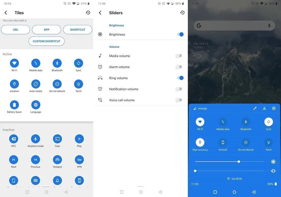 أفضل تطبيقات الإعدادات السريعة Android أسفل الإعدادات السريعة