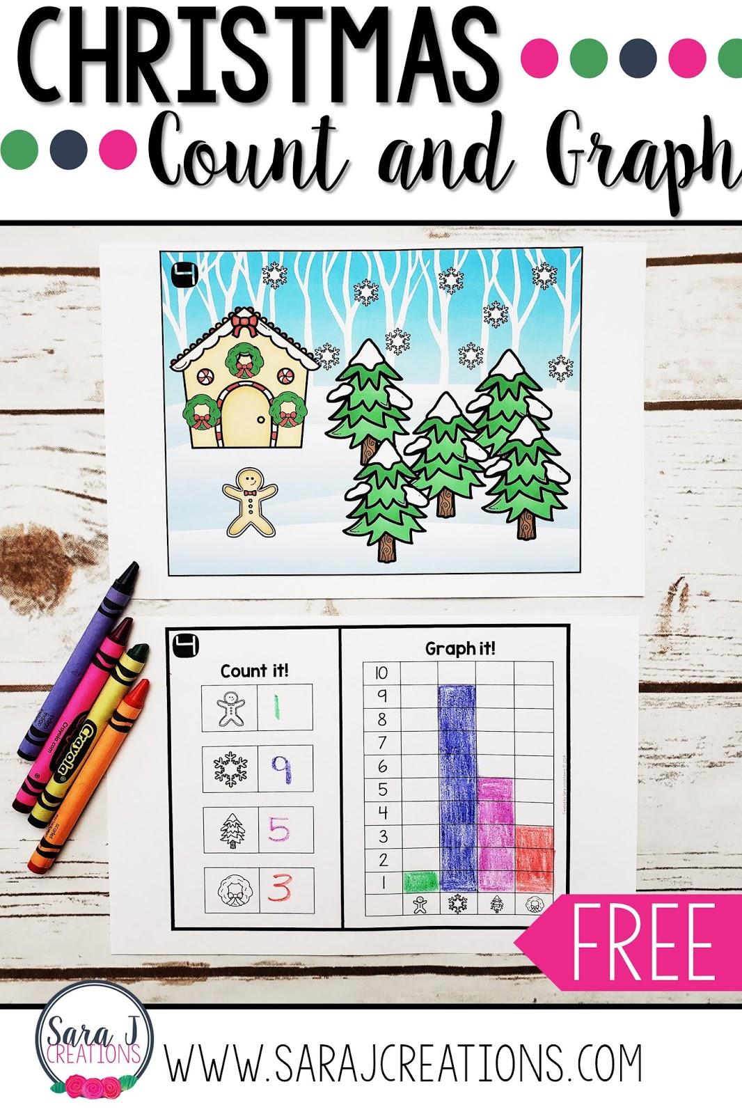 medium resolution of Christmas Count and Graph   Sara J Creations