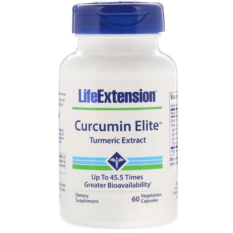 Life Extension, Curcumin Elite Turmeric Extract, 60 Vegetarian Capsules