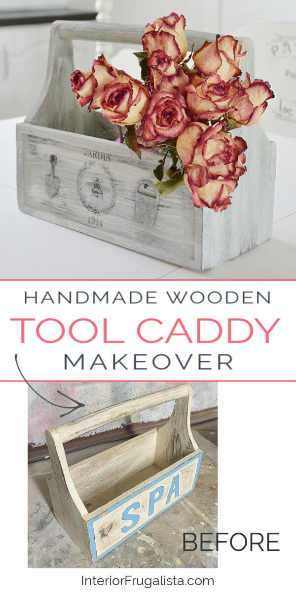 Handmade Wooden Tool Caddy Before And After