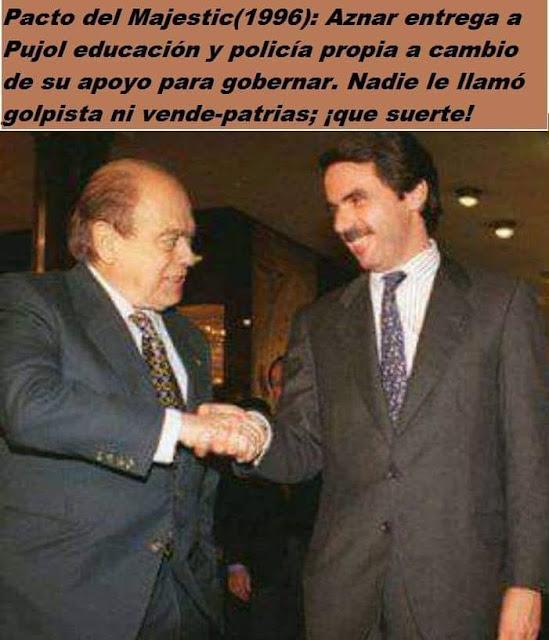 Pacto del Majestic, 1996, Pujol, Aznar