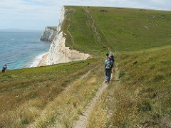 Walking along the Dorset Coast