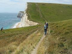 Walking along the Dorset Coast
