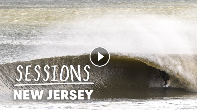 New Jersey and New York Pro Surfers Take On Perfect Winter Barrels Sessions
