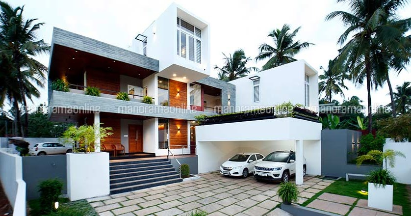 Luxury 6 Bedroom Home With Swimming Pool In 5000 Sqft Free Plan Free Kerala Home Plans