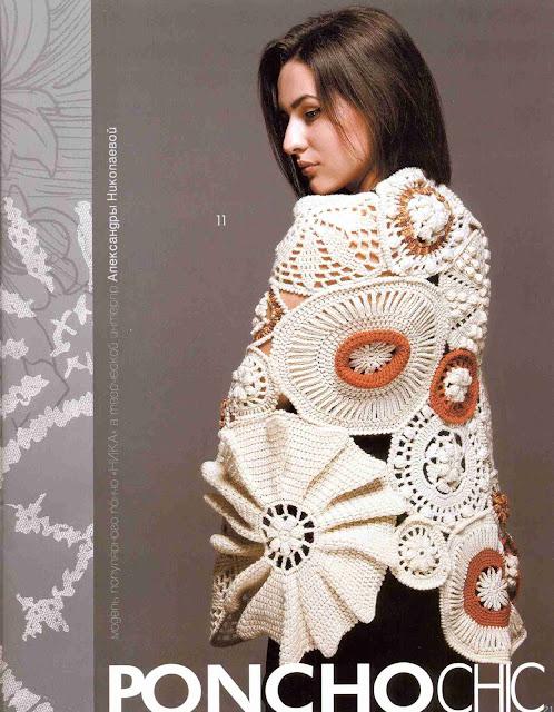 Patron #1337: Poncho a Crochet